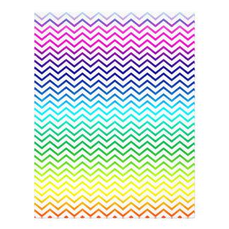 Rainbow Colors Chevron Zigzag Unique Custom Flyer