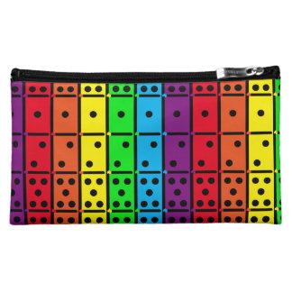 Rainbow Colors Dominoes Design Makeup Bag