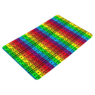 Rainbow Colors Dominoes Floor Mat