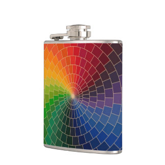 RAINBOW COLORS HIP FLASK