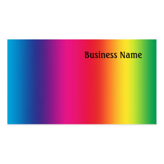 Rainbow colors pack of standard business cards