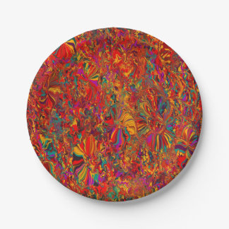 rainbow colors paper plate