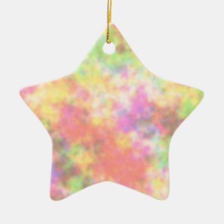 Rainbow Colors. Pretty, Colorful Clouds. Ceramic Star Decoration