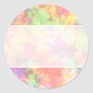 Rainbow Colors. Pretty, Colorful Clouds. Classic Round Sticker