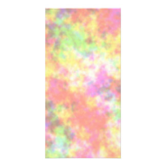 Rainbow Colors. Pretty, Colorful Clouds. Photo Card Template