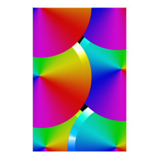 Rainbow colors stationery