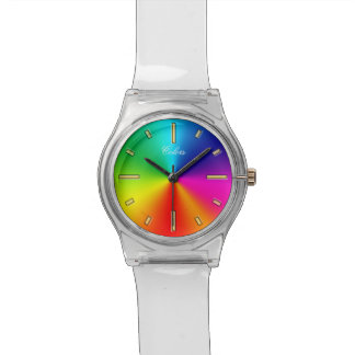 Rainbow Colors Wristwatch