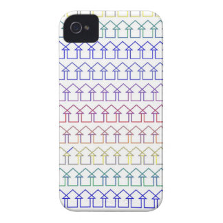 Rainbow coloured arrows with white background iPhone 4 covers