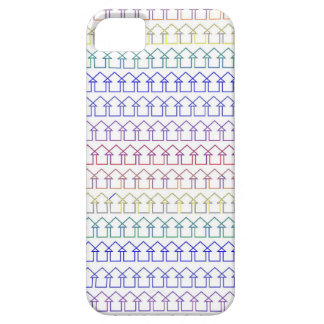 Rainbow coloured arrows with white background iPhone 5 covers