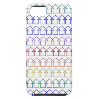 Rainbow coloured arrows with white background tough iPhone 5 case