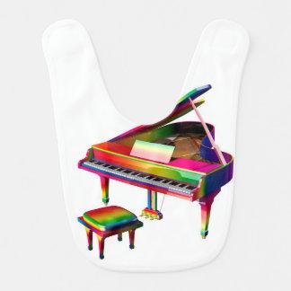 Rainbow Coloured Piano Bib