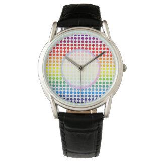 Rainbow Coloured Polkadot Watch