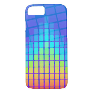 Rainbow Coloured Pyramid of Rectangles iPhone 8/7 Case