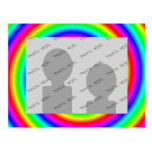 Rainbow Colours. Bright and Colourful. Custom Phot Postcards