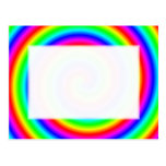 Rainbow Colours. Bright and Colourful Spiral. Post Cards
