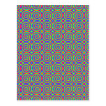 Rainbow Colours. Bright and Colourful Spirals. Postcard