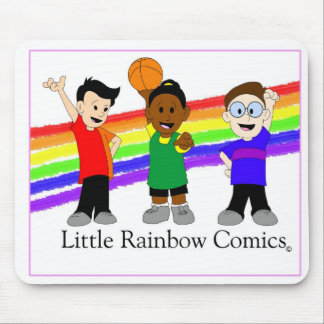 Rainbow Comics Trio Mouse Pad