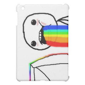 Rainbow Computer Face Guy iPad Mini Covers