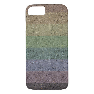 Rainbow Concrete Coated iPhone 7 Case