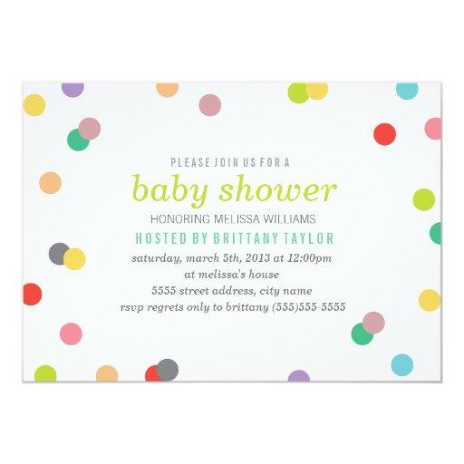 rainbow confetti baby shower invite zazzle
