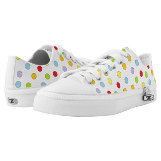Rainbow Confetti Unisex Laces Shoes Printed Shoes