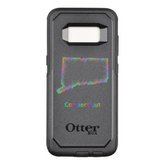 Rainbow Connecticut map OtterBox Commuter Samsung Galaxy S8 Case