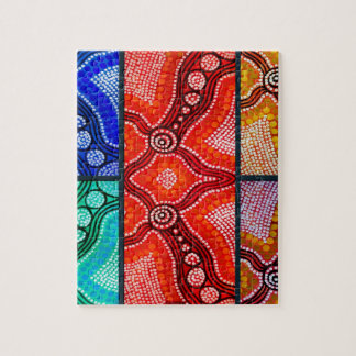 Rainbow Corroboree Panel Puzzle