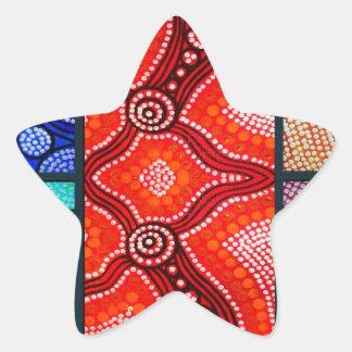 Rainbow Corroboree Panel Star Sticker