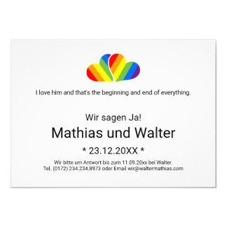 Rainbow Couple Card