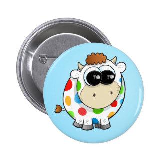Rainbow Cow Button
