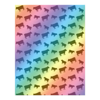 Rainbow cow pattern custom flyer
