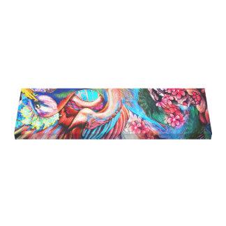 Rainbow Crane Canvas Print