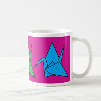 Rainbow cranes basic white mug