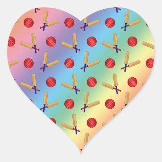 Rainbow cricket pattern stickers