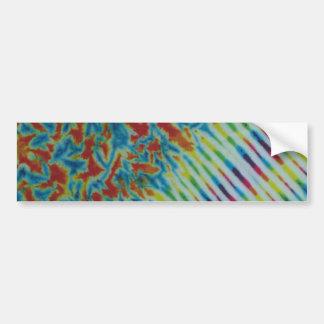 Rainbow Crinkle & Stripe Tie Dye Bumper Sticker