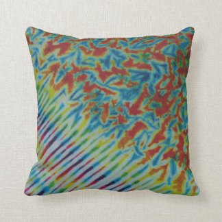 Rainbow Crinkle Stripe TieDye American MoJo Pillow