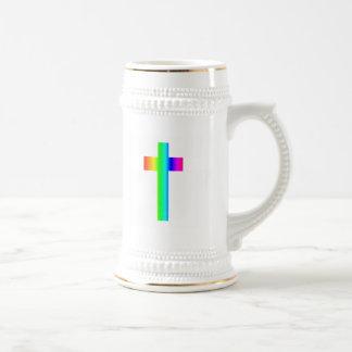 Rainbow Cross Coffee Mugs