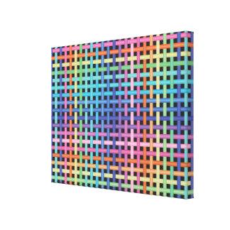 Rainbow Crossed Pattern Canvas Print