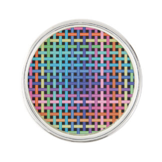 Rainbow Crossed Pattern Lapel Pin