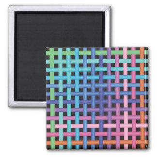 Rainbow Crossed Pattern Magnet