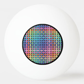 Rainbow Crossed Pattern Ping Pong Ball