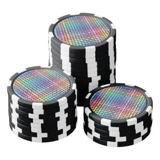 Rainbow Crossed Pattern Poker Chips