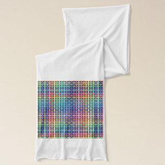 Rainbow Crossed Pattern Scarf