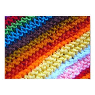 Rainbow Crotchet Blanket Custom Announcements