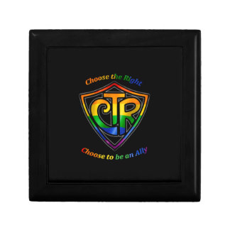 Rainbow CTR - LDS LGBT Ally Small Square Gift Box