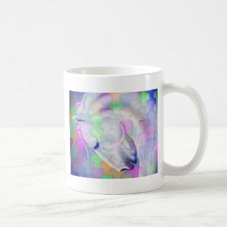 Rainbow Cubism Equine Art Coffee Mug