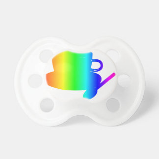 Rainbow Cup, Saucer, Spoon Pacifier