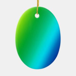 rainbow custom design ceramic oval decoration