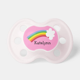 Rainbow Custom Monogram Baby Pacifier