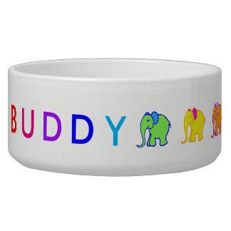 Rainbow Custom Pet's Name Cartoon Elephants Parade